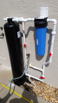 Installed Water Filter